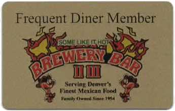 Frequent Diners Member Card